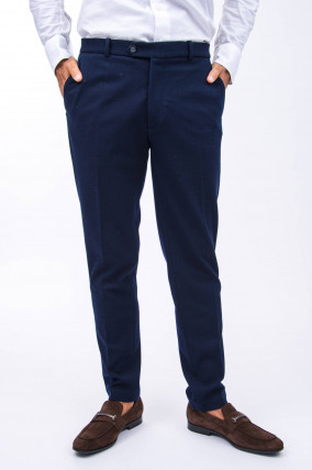 Stoffhose in Navy