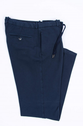 Jersey-Hose in Navy