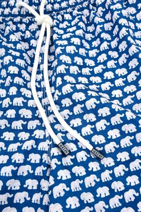 Badehose MADEIRA mit Print in Blau