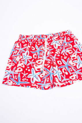 Badehose MALEDIVE AIRSTOP STAMPATO in Rot