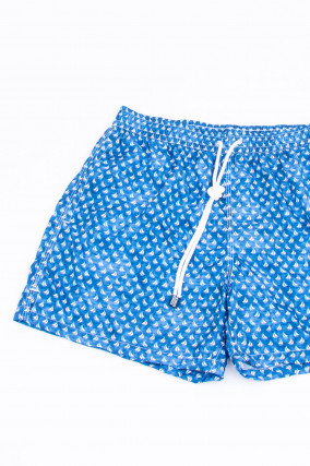 Badehose MADEIRA AIRSTOP STAMPATO in Blau