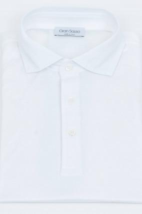 Jerseyhemd in Weiß