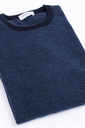Pullover aus Schurwolle in Navy