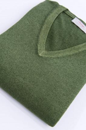 Schurwolle Pullover in Grün