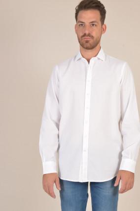 Hemd aus Baumwolle in Weiß
