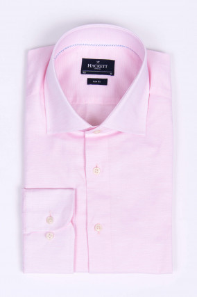 Leinenmix-Hemd in Rosa