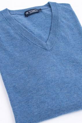 Feinstrickpullover in Meeresblau