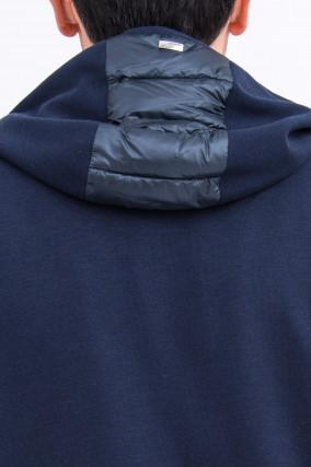 Ultraleichte Jacke mit Daunenfront in Navy