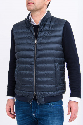 Daunen-Gilet in Navy