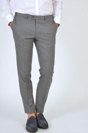 Hose aus Wolle in Grau
