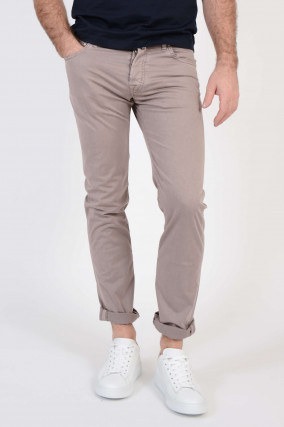 Baumwollhose in Taupe