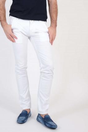 Baumwollhose in Weiß