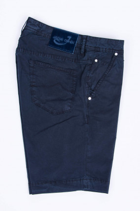 Bermudashorts aus Baumwollstretch in Navy