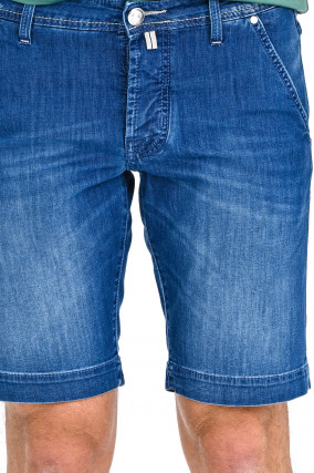 Jean Shorts in Mittelblau