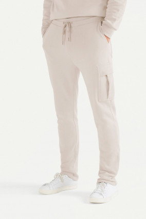 Cargo Sweatpants in Beige
