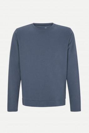 Sportiver Sweater in Blaugrau