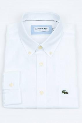 Hemd aus Leinen in Weiß