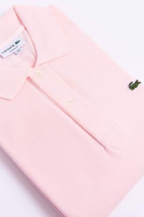 Poloshirt mit Logo in Rosa