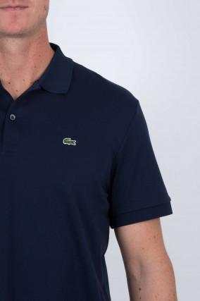 Jersey-Poloshirt in Navy