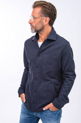 Woll-Hemd in Navy