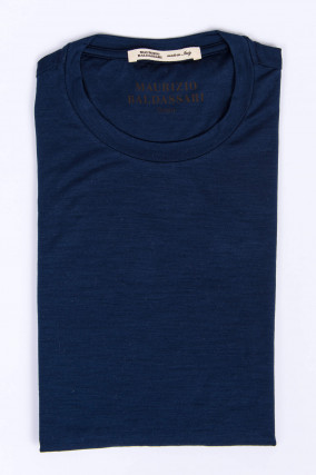 Kurzarm T-Shirt in Navy