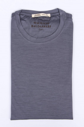 Kurzarm T-Shirt in Grau