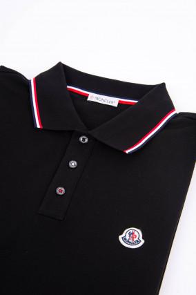 Poloshirt MAGLIA mit Streifen-Details in Schwarz