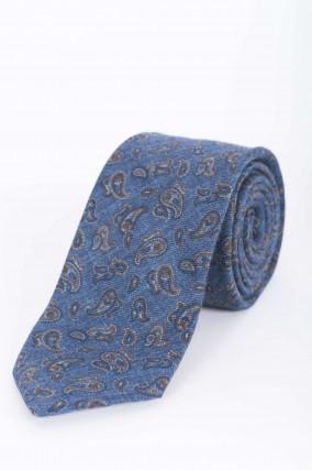 Krawatte in Blau gemustert