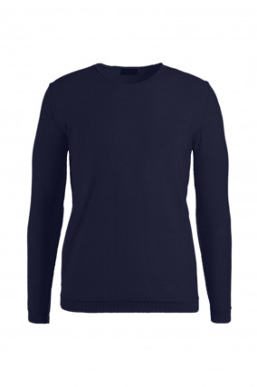 Sweater aus Baumwolle in Navy