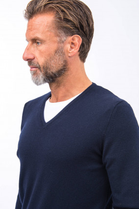 Leichter Pullover in Navy