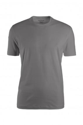 Jersey Kurzarmshirt in Grau