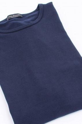 Langarm Shirt in Navy