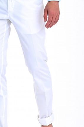 Hose aus Baumwolle in Weiß