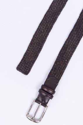 Geflochtener Ledergürtel in Braun