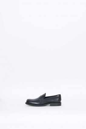 Leder Loafer in Schwarz
