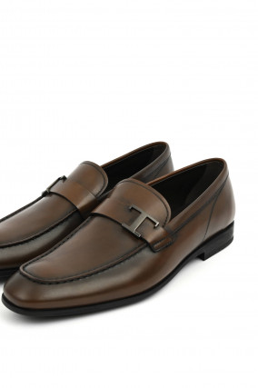 Leder-Loafer in Braun