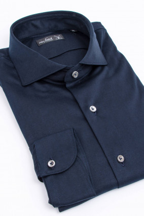 Jerseyhemd in Navy