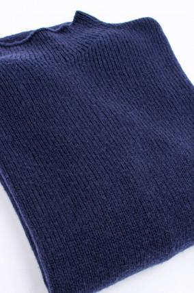 Pullover mit Stehkragen in Navy
