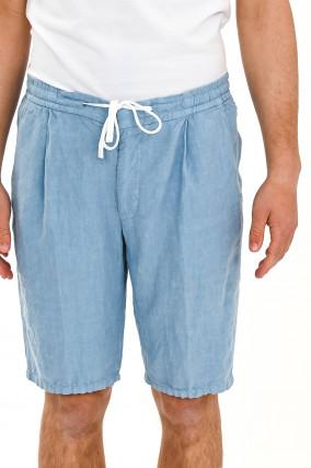 Leinen-Shorts CORTINO in Hellblau