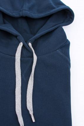 Sweater mit Kapuze in Navy