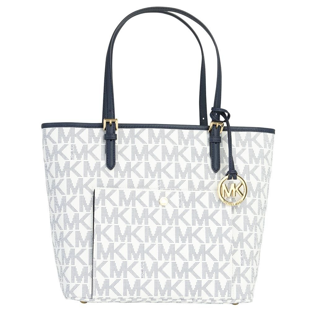 Michael Kors Tasche Navy White